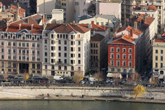Saone river in Lyon Royalty Free Stock Photography