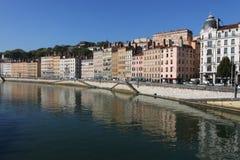 Saone river in Lyon Stock Image