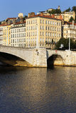 Saone river in Lyon city Stock Photos