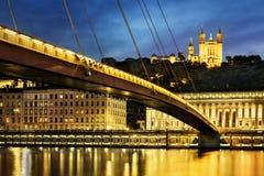 Saone river Lyon, France. Royalty Free Stock Photos