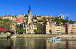 Saone view Royalty Free Stock Photography