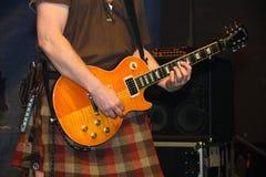 Saor巡逻复合体的吉他演奏员 库存照片