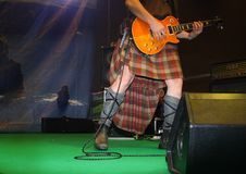 Saor巡逻复合体的吉他演奏员 免版税库存图片