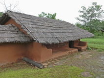 Saoras tribals房子 库存照片