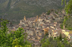 Saorge. View of Saorge in France, Europe Stock Photography