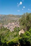 Saorge village, France. Saorge village panoramic view, France Stock Photos