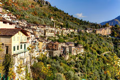 Saorge. Village, Southern France. Saorge is stretched out in an arc around the concave side of the mountains. The village is full of very picturesque streets Royalty Free Stock Photography