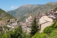 Saorge wioska, Francja fotografia royalty free