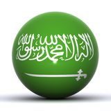 Saoudien de globe de l'Arabie Image libre de droits