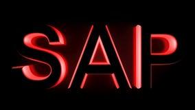 SAP в красном backlight - переводе 3D Стоковое фото RF