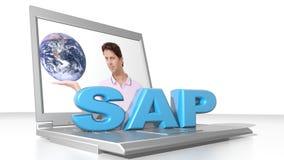 SAP e computer Fotografie Stock Libere da Diritti