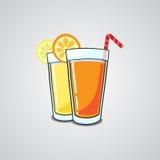 Sap in een glas Stock Illustratie
