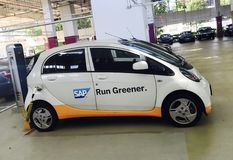 SAP Electric car royalty free stock photo