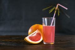 Sap en grapefruit, detox Royalty-vrije Stock Foto