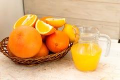 Sap en sinaasappelen Royalty-vrije Stock Fotografie