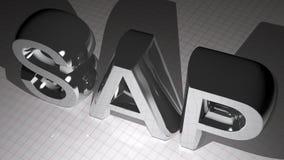 SAP metallic chromed Royalty Free Stock Photography