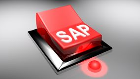 SAP red switch is on - 3D rendering Royalty Free Stock Image