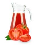 Sap van tomaten royalty-vrije stock foto's