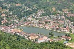 Взгляд городка Sapa Стоковые Изображения RF