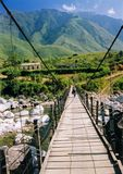 Sapa Bridge Mountains Northern Vietnam Stock Photography