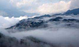 Sapa en la niebla Fotos de archivo