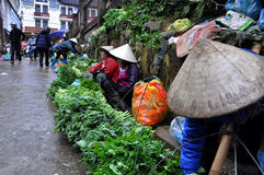 Vendors at Sapa market, Northern Vietnam Royalty Free Stock Image