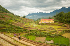 Sapa, Lao Cai Province, Vietnam - June 12, 2009: The city center Royalty Free Stock Photography