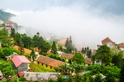 Sapa in the mist, lao cai, vietnam. Landscapes Stock Photography