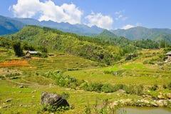 Sapa mountain view Stock Photos