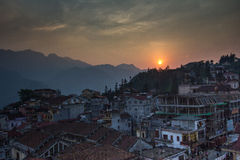 Sapa, Northern Vietnam. This is the town of Sapa, northern Vietnam Royalty Free Stock Images