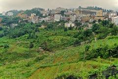 Sapa stad, det mest kalla stället i Vietnam, Vietnam arkivbilder