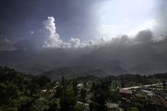 Sapa-Standpunkt mit Sonnenstrahl Lizenzfreies Stockfoto