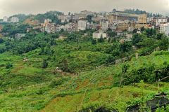 Sapa Town, the coldest place in Vietnam, Vietnam stock images