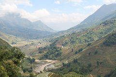 Sapa valley in Vietnam Royalty Free Stock Photo