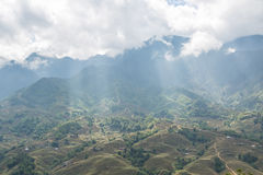 Sapa valley in Vietnam Stock Photo
