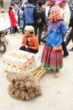 SAPA VIETNAM - FEBRUARI 08, 2015: Hmong kvinnor Royaltyfri Bild