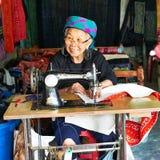 Sapa, Vietnam.- 22. Mai. 2019. Local women make clothes in lao chai sapa valey in Vietnam.  stock photos