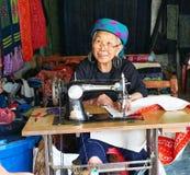 Sapa, Vietnam.- 22. Mai. 2019. Local women make clothes in lao chai sapa valey in Vietnam.  royalty free stock photos