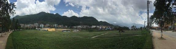 Sapa Vietnam Mountain View nuvoloso fotografia stock libera da diritti