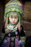 SAPA VIETNAM - NOV3,2017 little girl wearing full tradition clot Royalty Free Stock Image