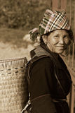 SAPA, VIETNAM - SEP 30:Unidentified woman of the flower H'mong i Stock Photo