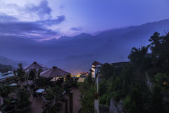 Sapa view. Sapa, is a frontier township and capital of Sa Pa District in Lào Cai Province in northwest Vietnam. It is one of the main market towns in the area Stock Image