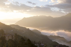 Sapa View. On the morning stock images