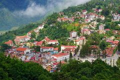SAPA view point, Lao Cai, Vietnam. Royalty Free Stock Image