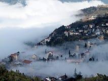 Sapa Vuetnam. City in Fog Stock Image