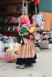 SAPA WIETNAM, LUTY, - 08, 2015: Hmong kobiety Obraz Stock