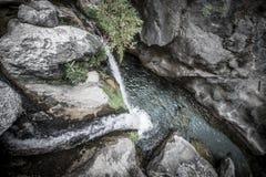 Sapadere Canyon and waterfall. Alanya, Turkey. tinted Royalty Free Stock Images