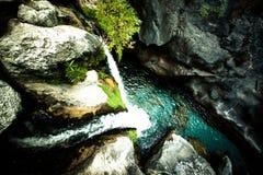 Sapadere Canyon and waterfall. Alanya, Turkey. tinted.  Royalty Free Stock Images