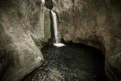 Sapadere Canyon and waterfall. Alanya, Turkey. tinted Stock Photo