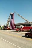 Sapador-bombeiro caído Honored Fotografia de Stock Royalty Free